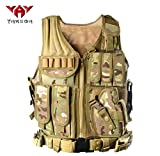 YAKEDA Tactical Vest Outdoor Ultra-Light Breathable Combat Training Vest Adjustable for Adults 600D Encryption Polyester-VT-1063 (CP)
