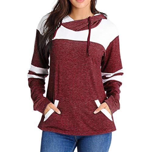 JERFER 2019 Frauen Farbblock Patchwork Langarm Hoodies Frauen Casual Sweatshirt