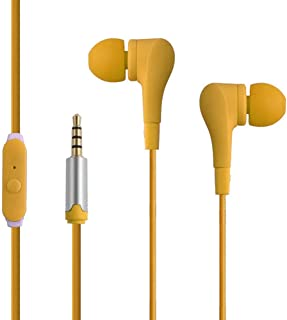 Huphoon Universal 3.5mm 1.2m in-Ear Stereo Headset with Mic Earbuds Earphone Compatible with Cellphone