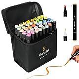 Girben Brush Pen Lettering e Blender - 40 Pennarelli Professionali da Disegno a Rapida Asciugatura