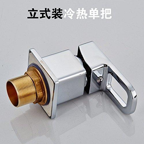 SunSuiLe sheng'er Armadio bagno split doppio rubinetto fredda rubinetto bacino tirare tipo rubinetto lavabo,caricamento verticale a caldo e a freddo con leva singola