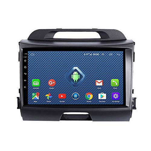 SDFLKH 4G LTE all Netcom 9 Pollici Autoradio Android per KIA Sportage R 2011 2012 2018 WiFi Multimedia Player Head Nuit Frame No Dvd 2 DIN(Size:Otto Core,Color:WiFi 1+16G)