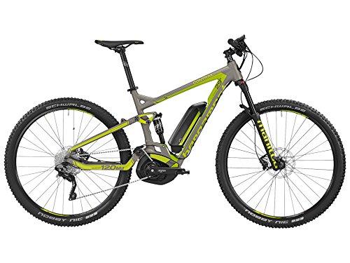 Bergamont E-Line Contrail C 6.040029Pedelec Elettrico per Bici MTB Grigio/Verde 2016