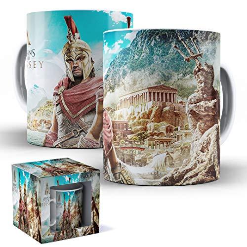 Caneca de Porcelana com Caixinha Presente Assassin's Creed Odyssey mod.37