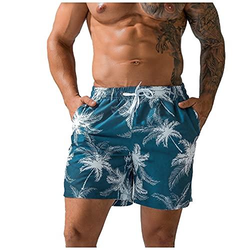 Pantalones de playa con estampado transpirable, talla grande para hombre, pantalones cortos de deporte informales de secado rápido blanco S