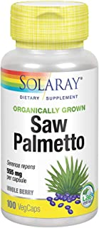 Solaray Organically Grown Saw Palmetto Berry 555mg | Healthy Prostate Support from Fatty Acids & Plant Sterols | Non-GMO, ...