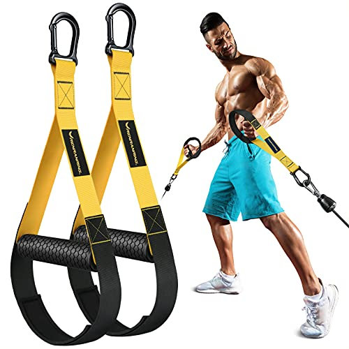 RENRANRING Resistance Band Handles – Heavy Duty Exercise Handle for...