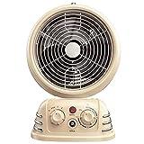 LTLJX 2000W Calefactor Cerámico PTC Calor y Ventilador de Aire Frío de Espacio Personal con Oscilación Automática, Protección contra Sobrecalentamiento y Volcado, Programable Timer,Beige