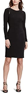 Womens Jersey Long-Sleeve Dress (Black, 18)