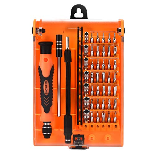 Mini Screwdriver Set, Torx Bit Set with T3 T4 T5 T6 T7 T8 T9 T10 T15 T20 Security Torx Bit, Computer repair tool kit with Phillips Head Screwdriver compatible for Nintendo Switch, iphone, PC Repair