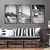 San Francisco Wand Bilder Schwarz-Weiß-Fotografie Poster
