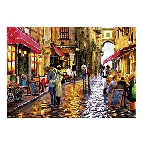 QIDI Jigsaw Puzzle para Adultos 8000 Tabletas: Pasee por La Calle del Café, Jigsaw Puzzle para Niños Jigsaw Puzzle Material De Papel (Size : 8000 Pieces)