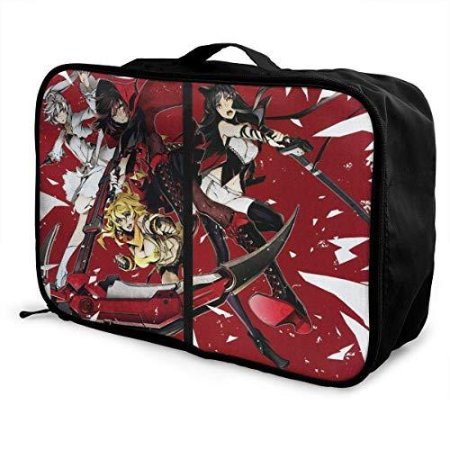 RWBY Anime Girl Holy Sword Travel Lage Duffel Bag for Women Men Kids, Waterproof Large Bapa Caity Lightweight Suitcase Portable Bags