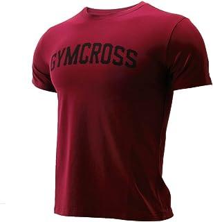 (GC-034 Maroon,XL)GYMCROSS ストレッチ Tシャツ 半袖[メンズ] トレーニングウェア フィットネスウェア gc-034 (XL, マルーン)