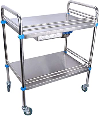 YD Stainless Steel Trolley-Medical Surgery Cart Surgical Car Clinic Infusion Car Beauty Salon Shelf