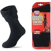 JARSEEN Damen Warme Winter Thermosocken mit Vollplüsch und Wolle Weiche Socken, Schwarz, EU 36-42