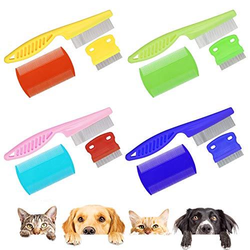 Ledoo 12 Unidades de Peine de Piojos para Perros, Peine de Pulgas para Mascotas para la Eliminación de Manchas y Mascotas Peine de Aseo, para Perros Gatos y Animales pequeños