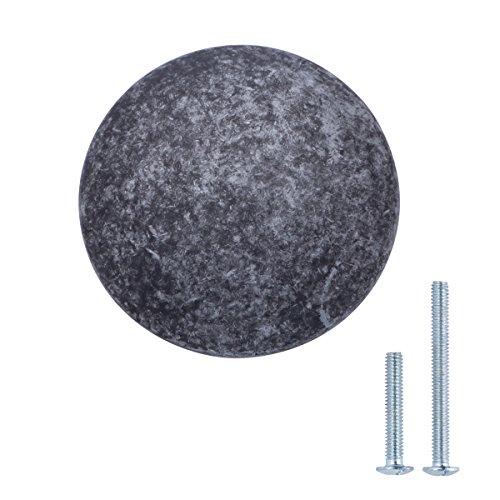 AmazonBasics - Schubladenknopf, Möbelgriff, rund, Durchmesser: 2,99 cm, Antik-Silber, 25er-Pack