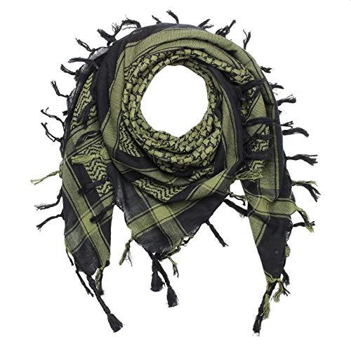 Superfreak Palituch - schwarz - grün-olivgrün - 100x100 cm - Pali Palästinenser Arafat Tuch - 100% Baumwolle