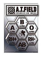 A.T.FIELD ステッカー シートタイプ 血液型 ATF028S 鏡面 シルバー エヴァンゲリオン