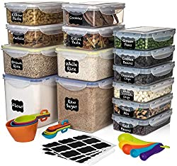 28 Pc [Set of 14] Airtight Food Storage Containers by Shazo