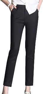 593b04e7ab2d LaoZanA Pantaloni Chino da Donna Pantaloni Classici Dritti Pantaloni A  Sigaretta Ufficio