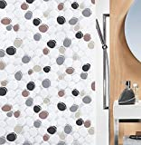 Spirella Anti-Schimmel Duschvorhang Dido Anti-Bakteriell, waschbar, wasserdicht PEVA 180x200cm Braun Grau Schwarz