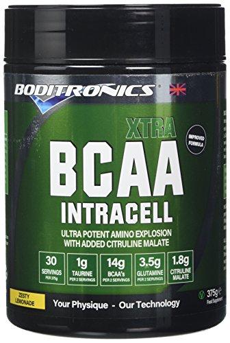 Boditronics BCAA Intracell XTRA 375g Zesty Lemonade Intra Workout and BCAA Powder