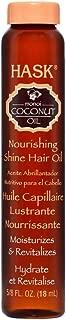 Hask Nourishing Monoi Coconut Shine Oil Vial, 0.625 Ounce