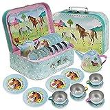 Jewelkeeper - Set da tè per Bambini 15 Pezzi E Custodia per Il Trasporto - Design Party Unicorno