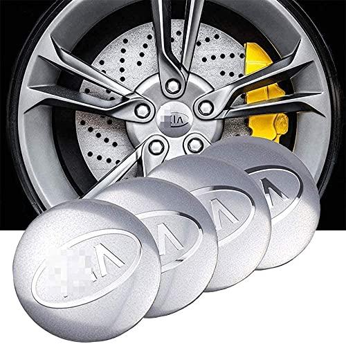Cubierta de rueda de 4 piezas, cubierta de moldura de rueda impermeable y a prueba de polvo, cubierta de rueda de aleación de aluminio con logotipo de automóvil, para Kia Cerato Sportage R K2 K3 56 mm