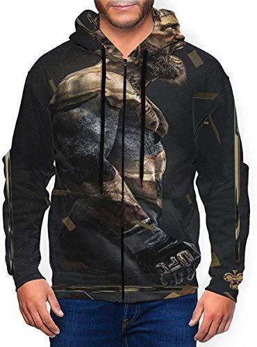 BobLBarrera Conor Mcgregor Hoodies Sweater Fashion Zipper Shirt Men's Hoodie Sweatshirt Jacket,Black,Small