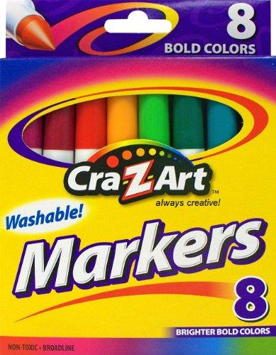 Cra-Z-Art Bold Washable Broadline Markers, 8 Counts