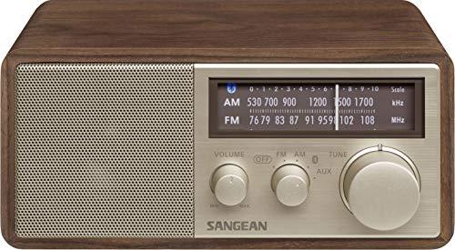 SANGEAN FM/AMラジオ対応 ブルートゥーススピーカー ウォールナット WR-302 [Bluetooth対応]