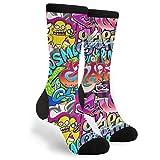 Urban Art Hip Hop Graffiti Socks Men's Women's Novelty Crew Socks Funny Crazy Socks