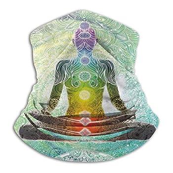 QBahoe Yoga Mandala Zen Meditation Hippie Chakra Unisex Fleece Neck Gaiter Warmer Winter Windproof Ski Face Mask Balaclava Half Mask for Women Men