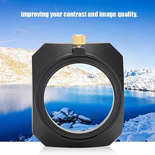 Qinlorgo 46mm quadratische Gegenlichtblende Schatten für DV-Camcorder Digitalvideokamera...