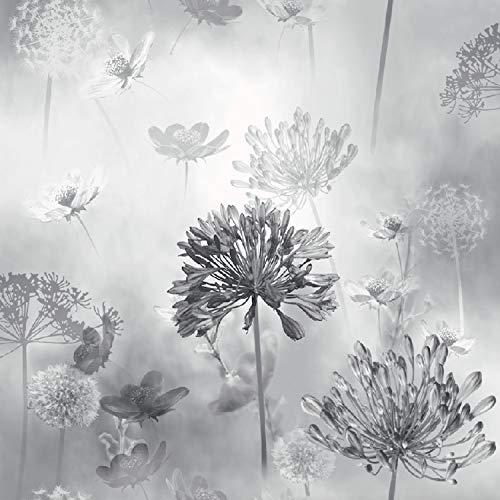 Arthouse Spring Meadow Mono Black Photographic Montage - Flowers &...