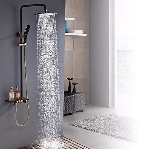 WXJLYZRCXK Grifo de Agua Sistemas de Ducha de Baño Juego de Grifos de Ducha Estante de Alenamiento de Baño Cabezal de Ducha de Mano Cabezal Giratorio de Bañera Caño Rociador de Bidé,a,a