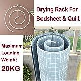 Bengvo Bed Sheet Drying Rack Laundry Hanger Round Spiral Space-Saving Drying Rack Hook