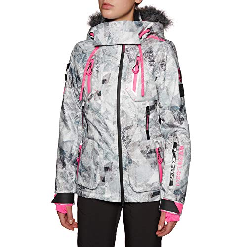 Superdry Ultimate Snow Action Snow Jacket Large Frosted Geo Mountain