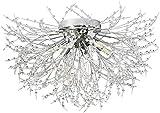Fdgjff Plafoniera in cristallo Dente di leone Plafoniera per soggiorno Camera da letto Cromo Sputnik Fuochi d'artificio Lampadario-Cromo-6Luce