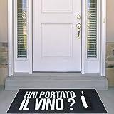 Zerbino Made in Italy, Fondo Antiscivolo Idea Regalo Hai portato Il Vino?...