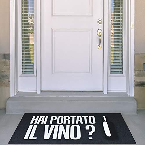IlGruppone Zerbino Ingresso Made in Italy, Fondo Antiscivolo Idea Regalo Hai portato Il Vino?