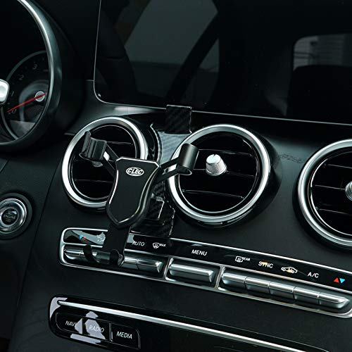HIGH FLYING Handyhalterung Auto Lüftung KFZ Halterung kompatibel für C Klasse Limousine W205/T-Modell S205/Coupé C205/Cabriolet A205 Bj. 2019 2020 (Schwarz)