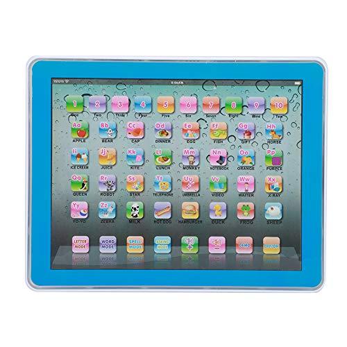 Tablet Toy, Learning Pad Fun Kids Tablet Kids Educational English Learning Tablet para niños y niñas(Azul)
