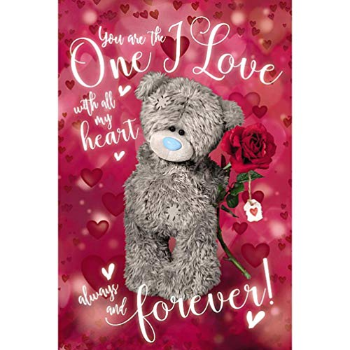 Me to You Tatty Teddy 3D Holographic 3D Card - One I Love - Birthday …