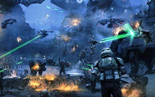 KJHJKH Movie Star Wars/AT-TE Walker/Droid gunshiprompecabezas Madera 1000 Comprimidos,Puzzle Creativo,La Mejor Decoración para El Hogar De Bricolaje:(H-50 cm x M/B-75 cm)
