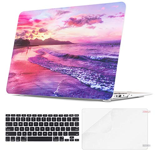 Lalumix MacBook Air 13 Inch Case A1466 A1369, Plastic Hard Shell with Keyboard Cover Screen Protector for Apple Mac Air 13 (MacBook Air 13' A1369/A1466(2012-2017), Sunset)