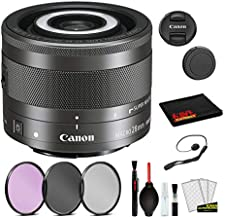 $249 » Canon EF-M 28mm f/3.5 Macro is STM Lens (1362C002) Lens with Bundle Package Deal Kit Includes 3pc Filter Kit (UV, CPL, FLD) + Deluxe Cleaning Kit + More